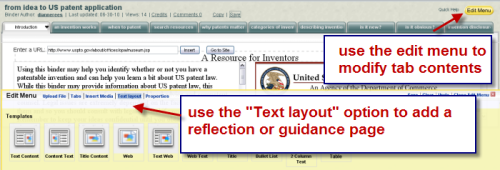 illustrates Text layout option