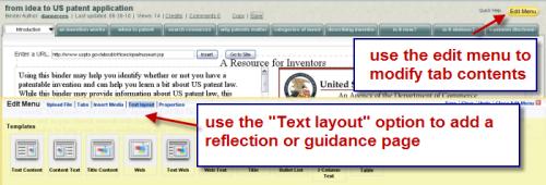 illustrates Text layout option
