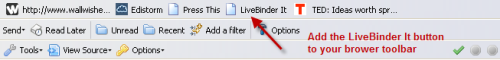 LiveBinder It button