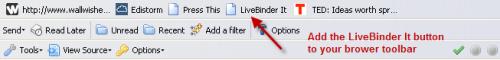LiveBinder It button